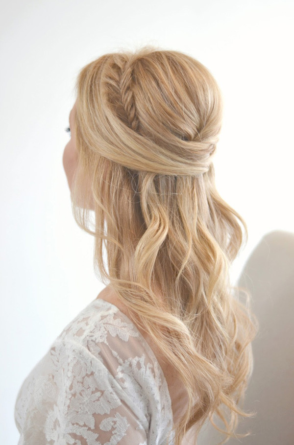 Best ideas about Half Up Half Down Hairstyles For Wedding . Save or Pin 20 Awesome Half Up Half Down Wedding Hairstyle Ideas Now.