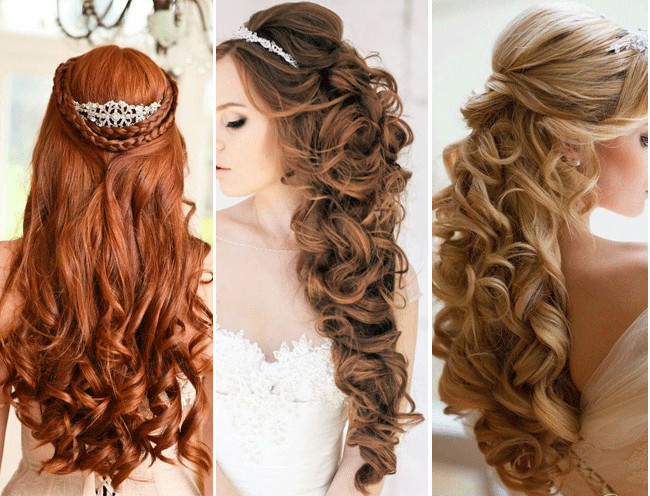 Best ideas about Half Up Half Down Hairstyles For Wedding . Save or Pin Top 4 Half Up Half Down Wedding Hairstyles Now.