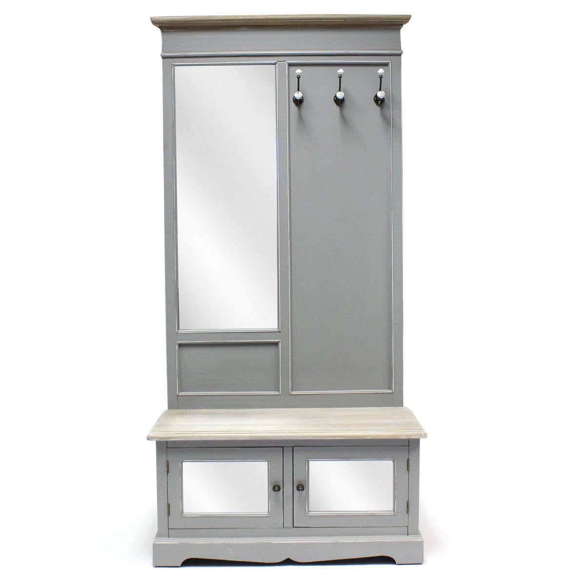Best ideas about Hall Storage Cabinet . Save or Pin Bentley Home Grey Loxley Vintage Hallway Cabinet Storage Now.