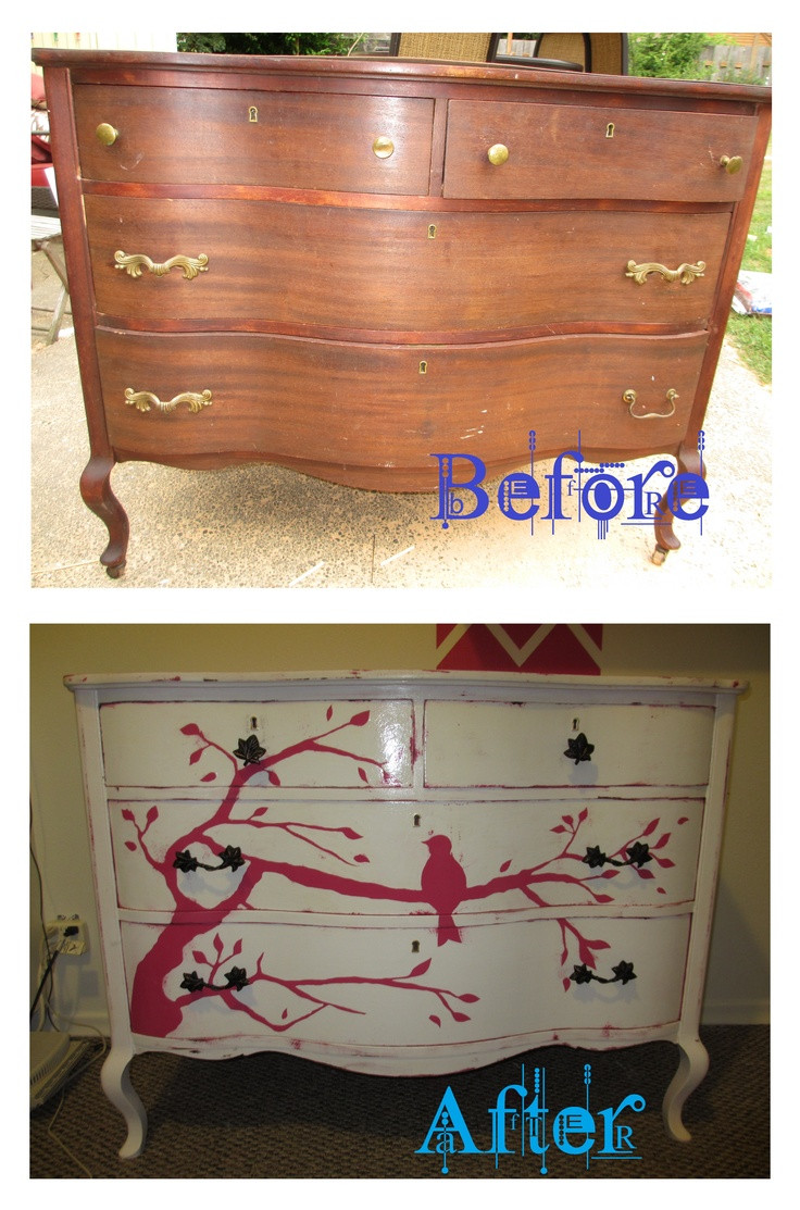 Best ideas about Hand Painted Furniture Ideas . Save or Pin Dresser Make Over [hand painted] Furniture Ideas Now.