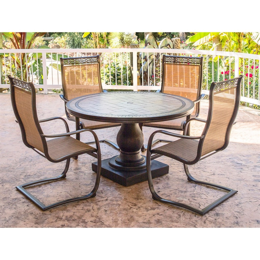 Best ideas about Hanover Outdoor Furniture . Save or Pin Hanover Outdoor Furniture MONDN5PCSP Monaco 5 Piece Round Now.