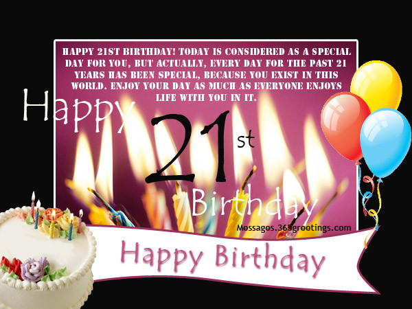 Best ideas about Happy 21st Birthday Wishes . Save or Pin 21st Birthday Wishes Messages and Greetings Now.