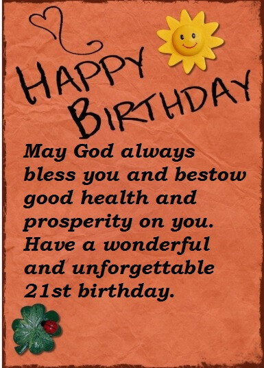Best ideas about Happy 21st Birthday Wishes . Save or Pin Best Wishes Quotes For 21st Birthday Now.