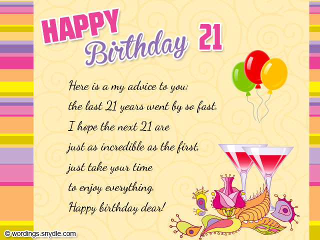Best ideas about Happy 21st Birthday Wishes . Save or Pin HAPPY 21ST BIRTHDAY QUOTES FOR FRIENDS image quotes at Now.