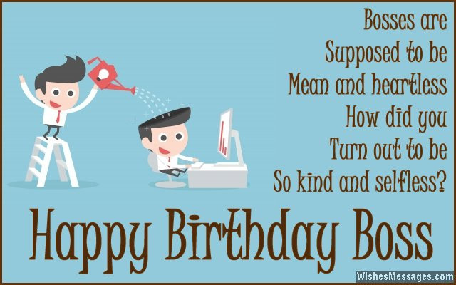 Best ideas about Happy Birthday Boss Funny . Save or Pin Birthday Wishes for Boss Quotes and Messages Now.