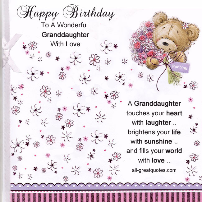 Best ideas about Happy Birthday Granddaughter Quotes . Save or Pin Happy 13th Birthday Granddaughter Quotes QuotesGram Now.