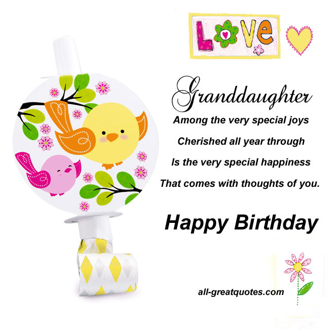 Best ideas about Happy Birthday Granddaughter Quotes . Save or Pin Birthday Quotes For Granddaughter QuotesGram Now.