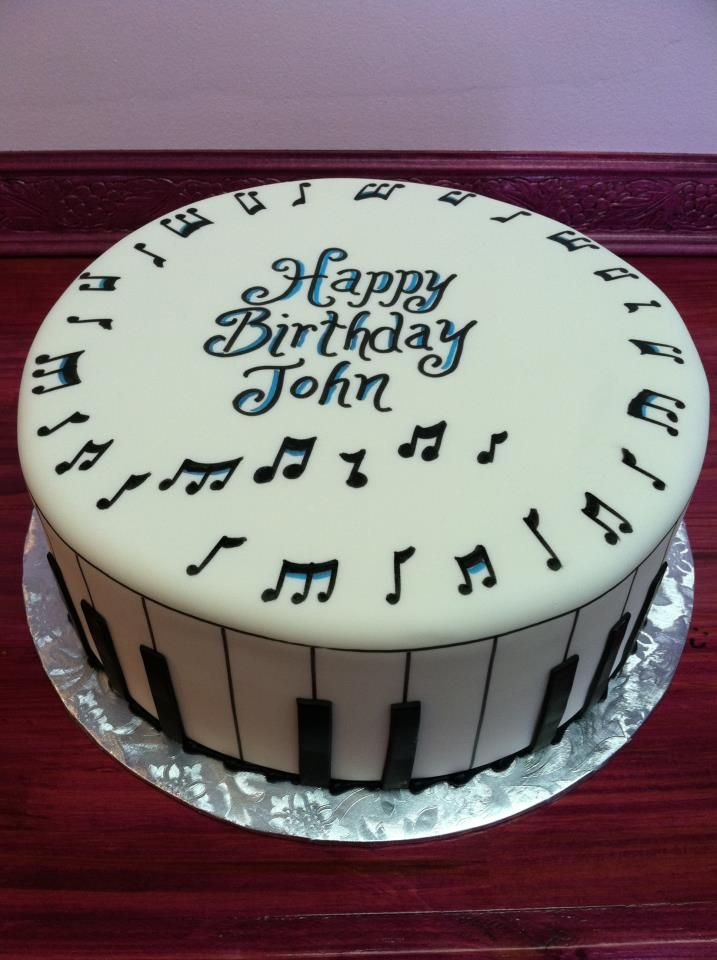 Best ideas about Happy Birthday John Cake . Save or Pin musical cake Tartas musicales Pinterest Now.