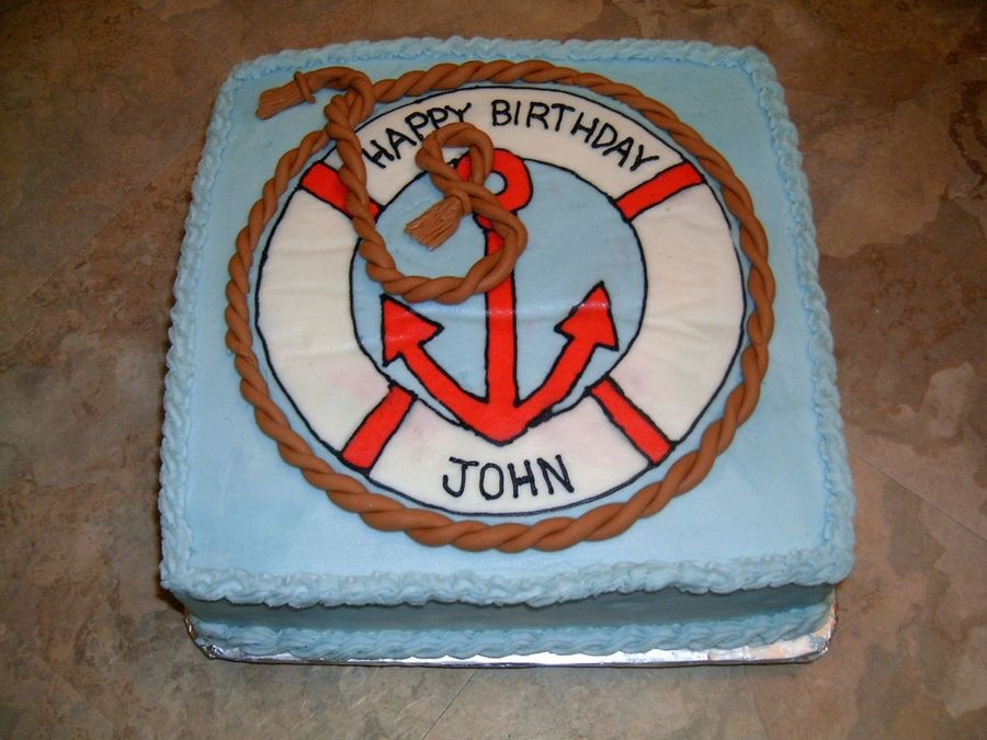 Best ideas about Happy Birthday John Cake . Save or Pin Nautical Birthday Cake CakeCentral Now.