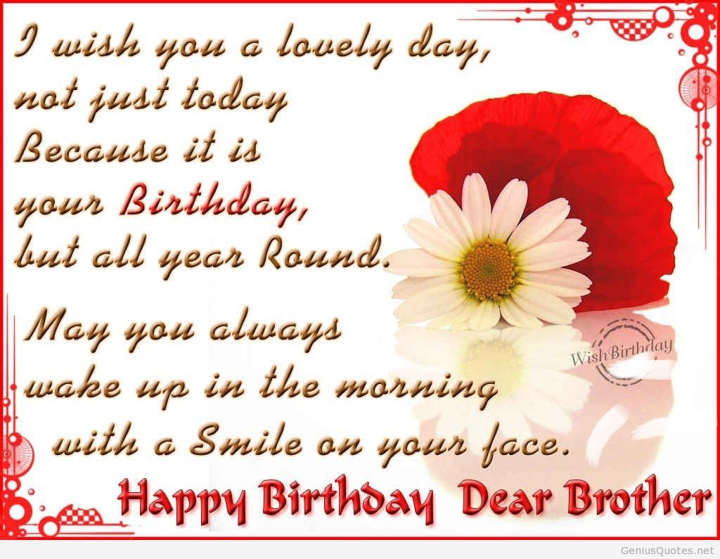 Best ideas about Happy Birthday Quotes Pic . Save or Pin Happy birthday brother quotes Now.