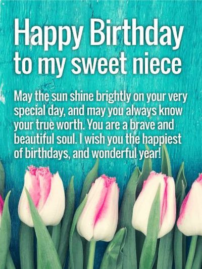 Best ideas about Happy Birthday Wishes For Niece . Save or Pin 110 Happy Birthday Niece Quotes and Wishes with Now.