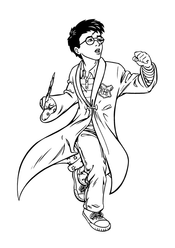 Best ideas about Harry Potter Coloring Pages For Kids . Save or Pin Free Printable Harry Potter Coloring Pages For Kids Now.