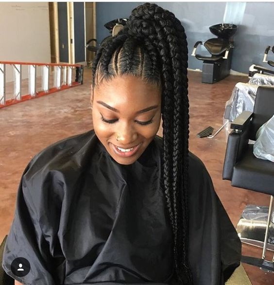 Best ideas about High Ponytail Braid Hairstyles . Save or Pin 31 Ghana Braids Styles For Trendy Protective Looks Now.
