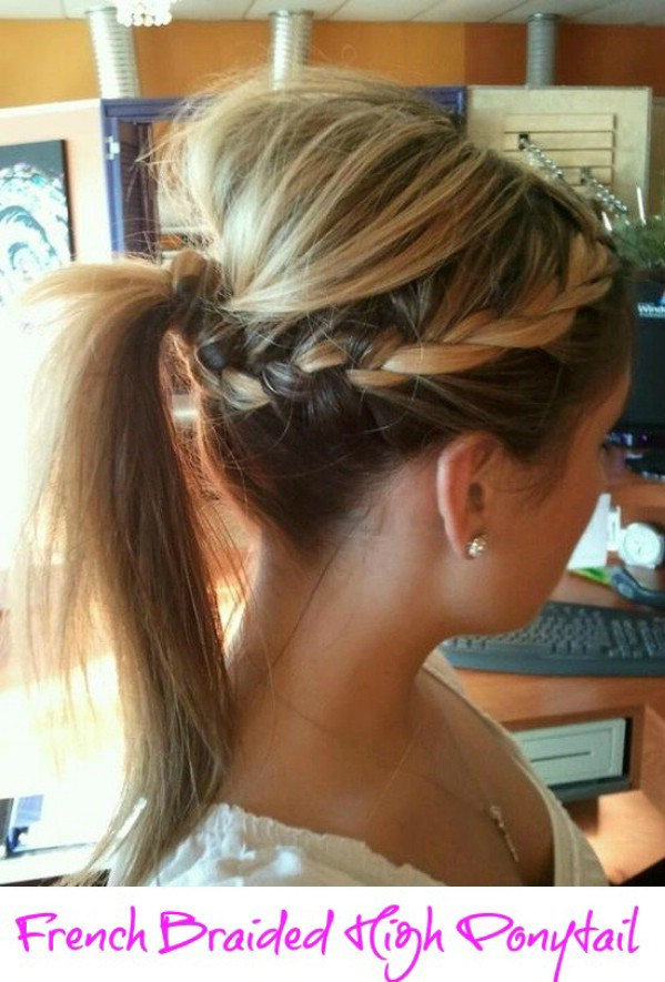 Best ideas about High Ponytail Braid Hairstyles . Save or Pin Creative DIY Hairstyle French Braided High Ponytail Now.