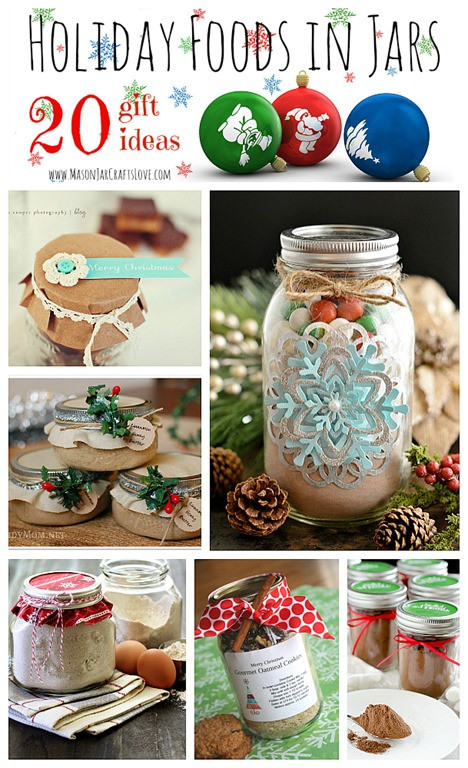 Best ideas about Holiday Food Gift Ideas . Save or Pin Holiday Gifts Food in Jars Mason Jar Crafts Love Now.
