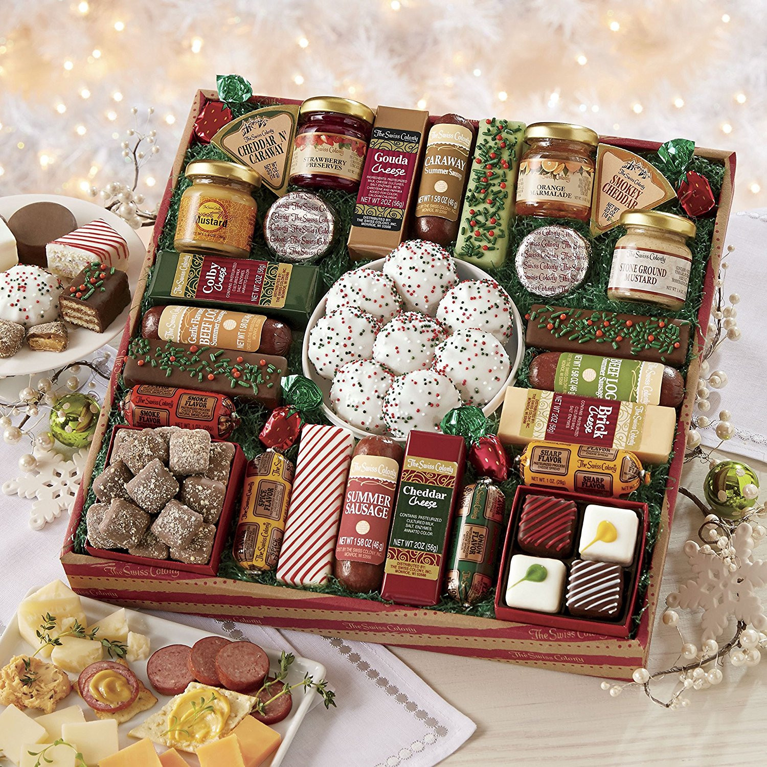 Best ideas about Holiday Food Gift Ideas . Save or Pin Gourmet Food Gift Baskets Best Cheeses Sausages Meat Now.