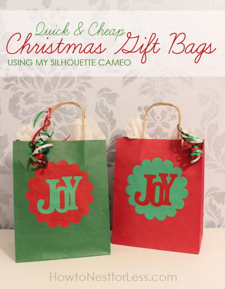 Best ideas about Holiday Gift Bag Ideas . Save or Pin Quick & Easy Christmas Gift Bags using my Silhouette Now.