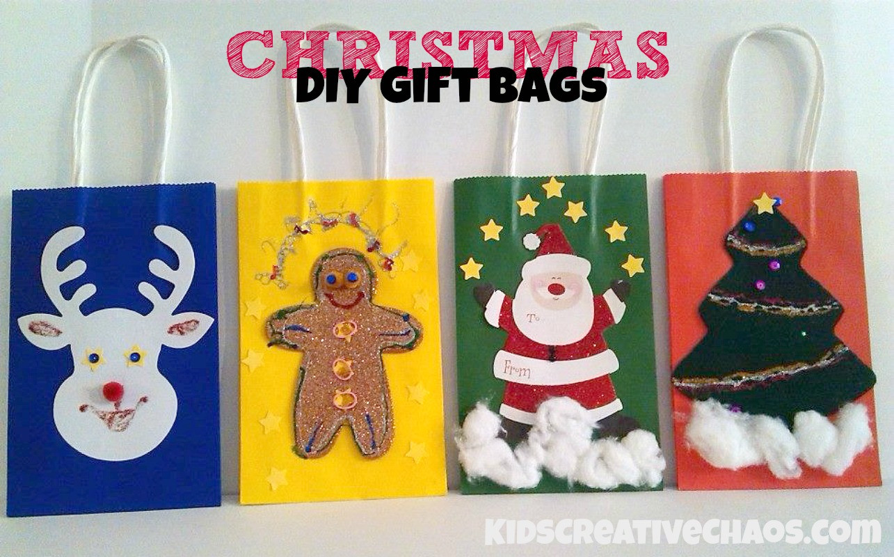 Best ideas about Holiday Gift Bag Ideas . Save or Pin Diy Christmas Gift Bag Ideas Kids Creative Chaos Now.