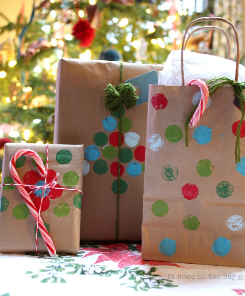 Best ideas about Holiday Gift Bag Ideas . Save or Pin Recycled Paper Bag Gift Wrap Ideas Now.