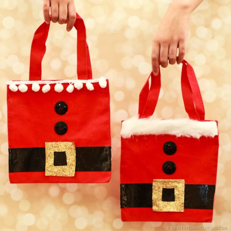 Best ideas about Holiday Gift Bag Ideas . Save or Pin Santa Gift Bags Now.