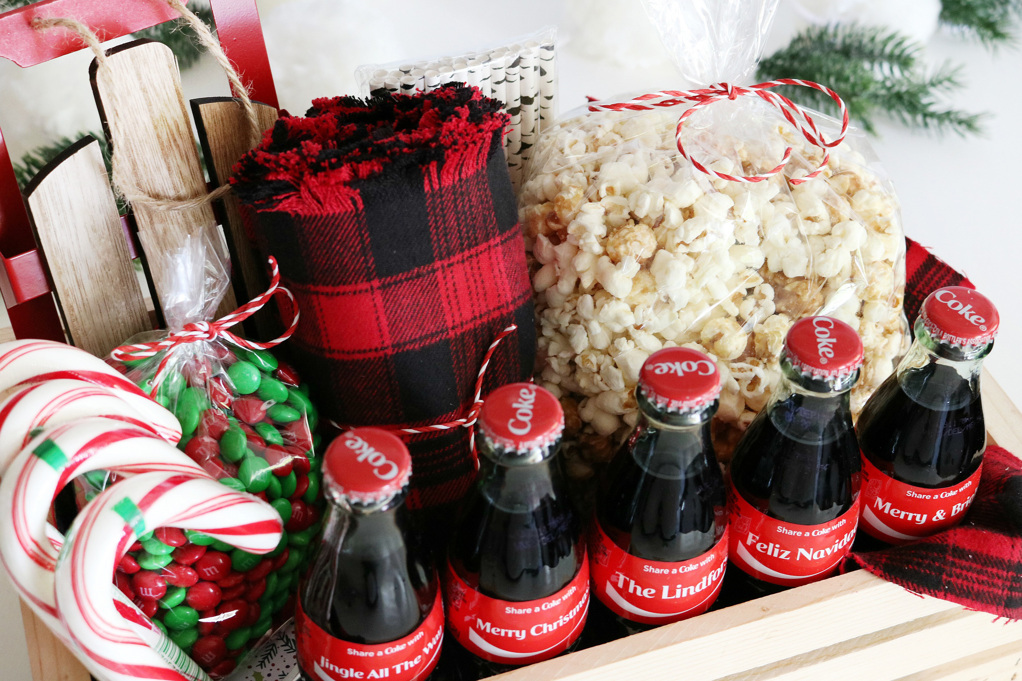 Best ideas about Holiday Gift Basket Ideas . Save or Pin Coca Cola Christmas Gift Basket Idea Free Printable Tags Now.
