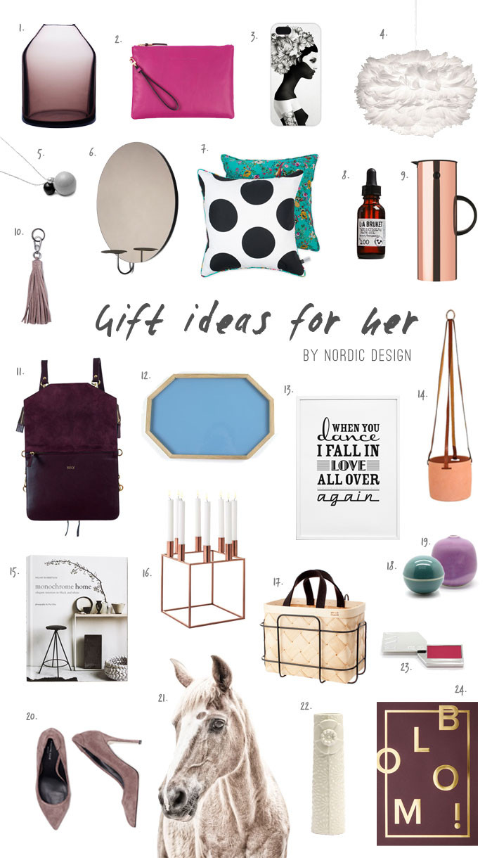 Best ideas about Holiday Gift Ideas For Her . Save or Pin Gift Ideas for Her NordicDesign Now.