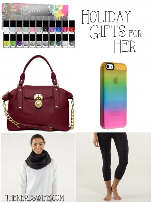 Best ideas about Holiday Gift Ideas For Her . Save or Pin Christmas Gift Ideas for Her The Nerd s Wife Now.