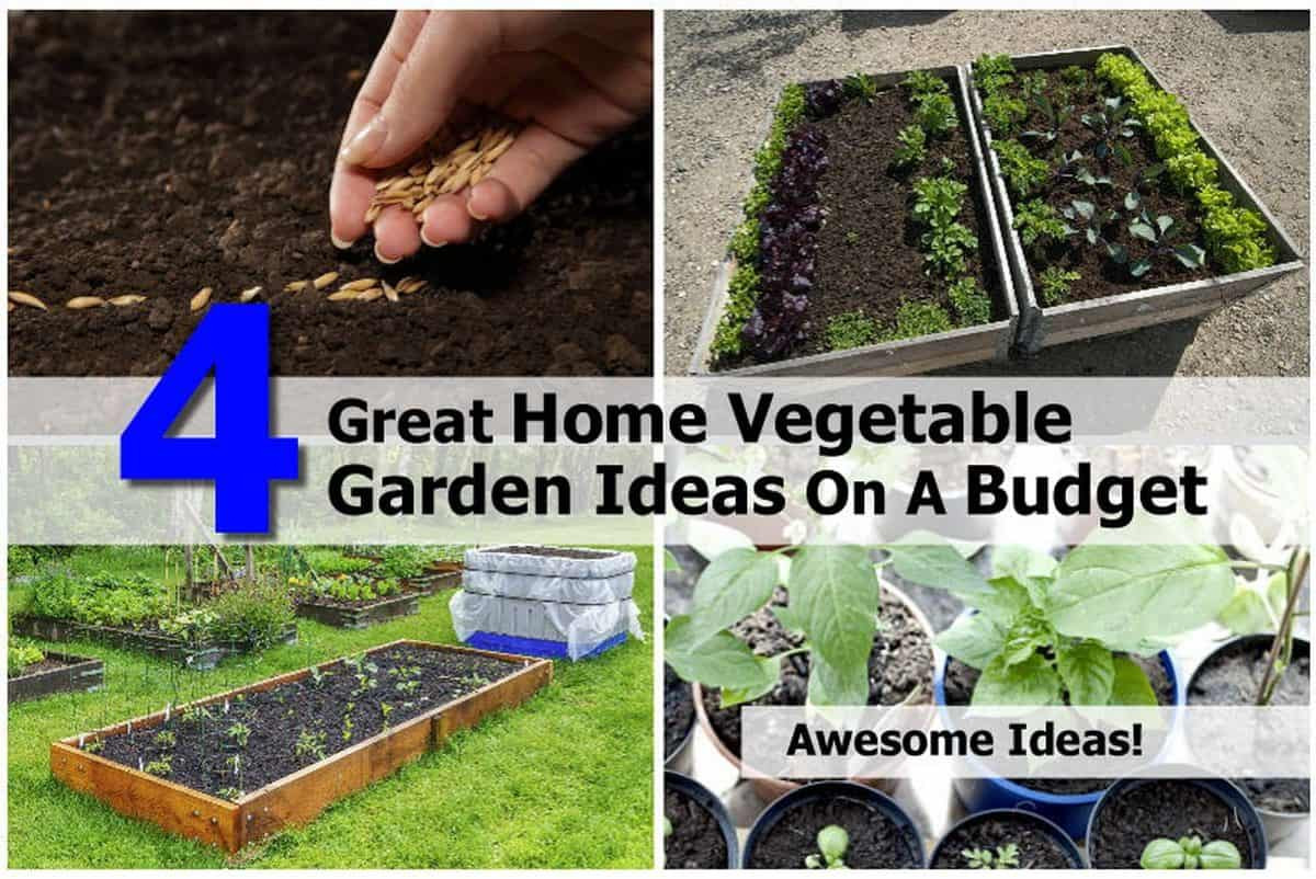 Best ideas about Home Vegetable Garden Ideas . Save or Pin 4 Great Home Ve able Garden Ideas A Bud Now.
