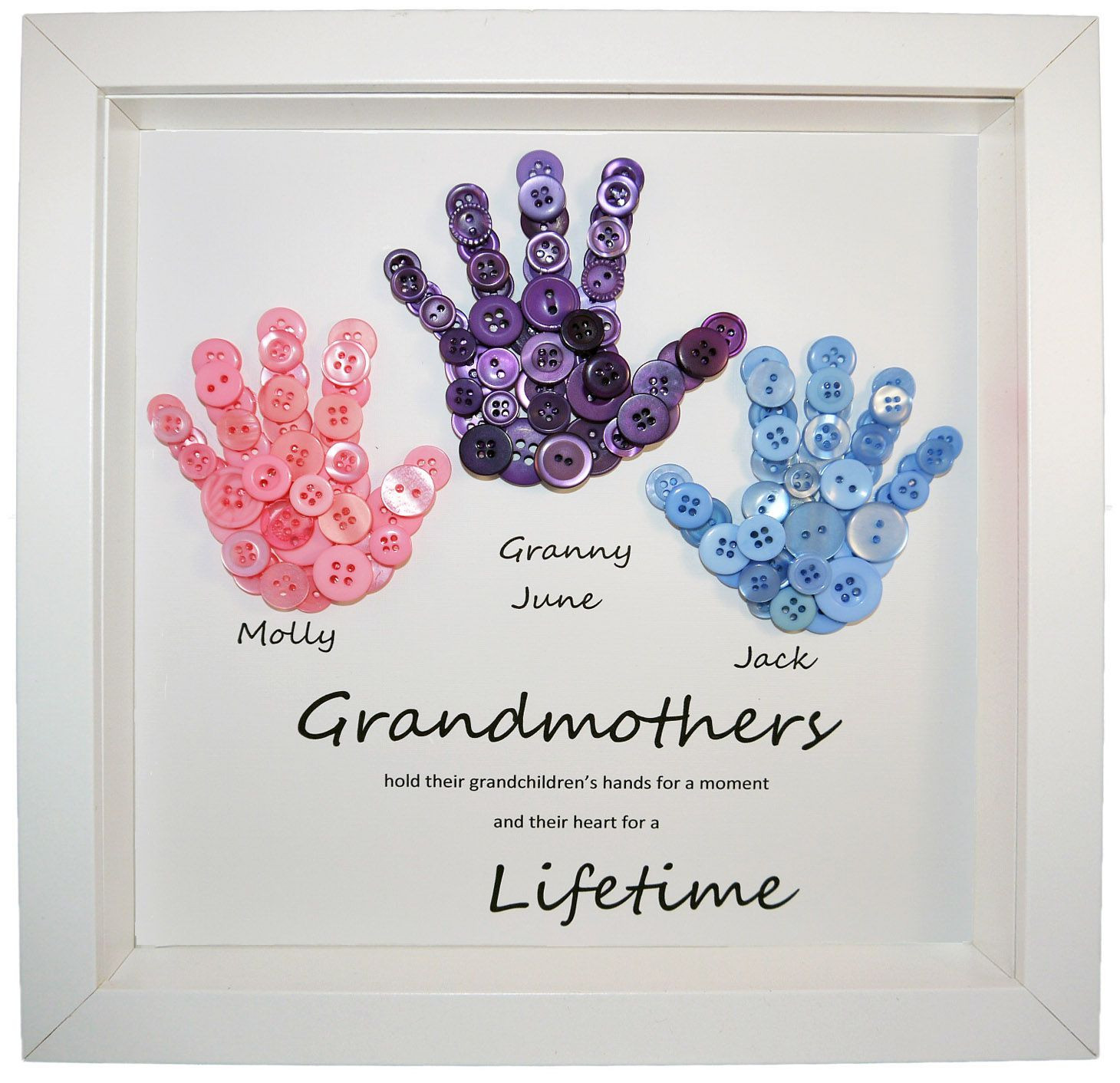 Best ideas about Homemade Birthday Gifts For Grandma . Save or Pin Love this personalised button handprints Now.