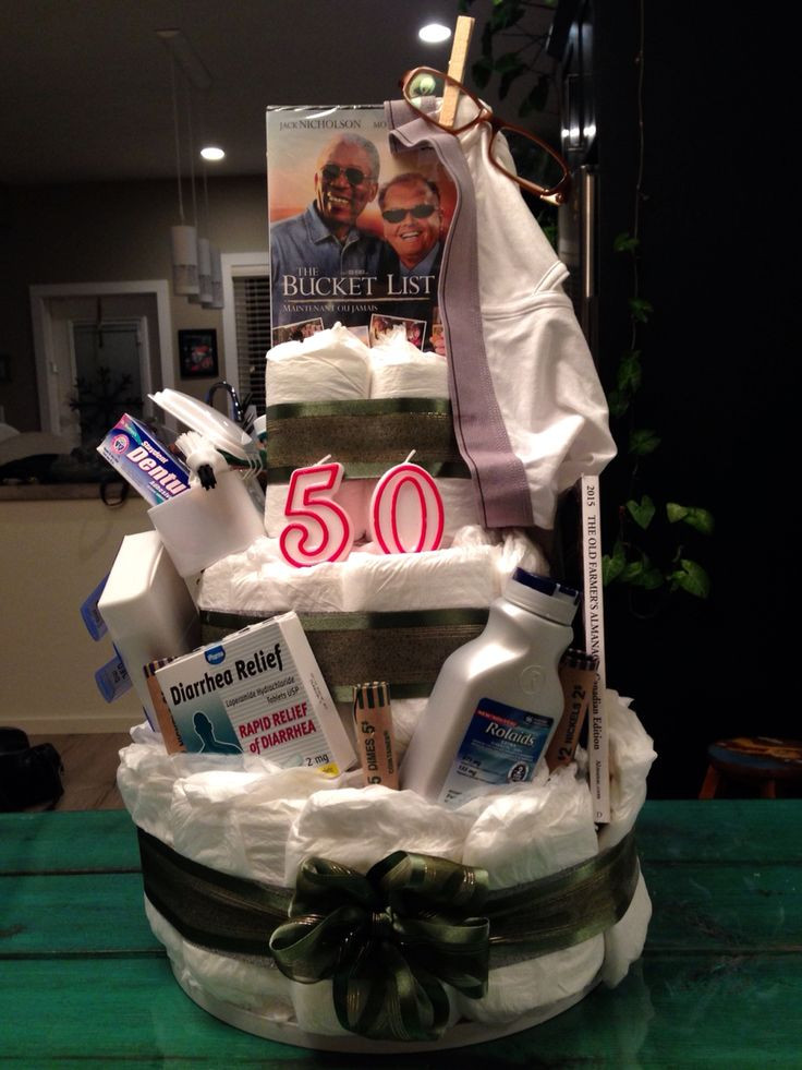 Best ideas about Homemade Funny 50th Birthday Gift Ideas . Save or Pin 17 Best ideas about Depends Cake on Pinterest Now.