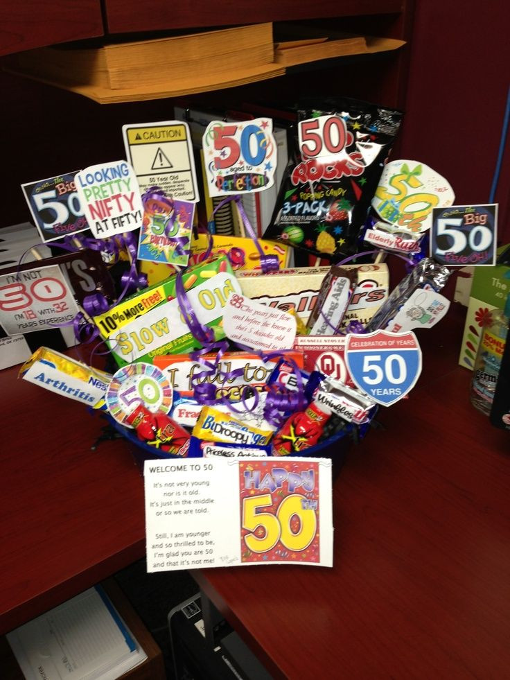 Best ideas about Homemade Funny 50th Birthday Gift Ideas . Save or Pin 50th birthday t basket Ideas Pinterest Now.