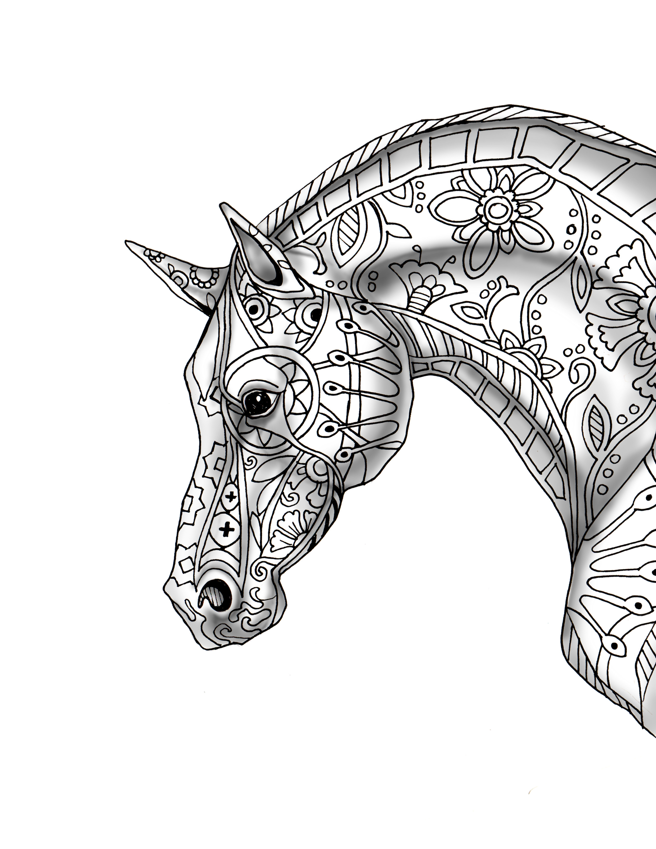 Best ideas about Horse Adult Coloring Books . Save or Pin Download Now.