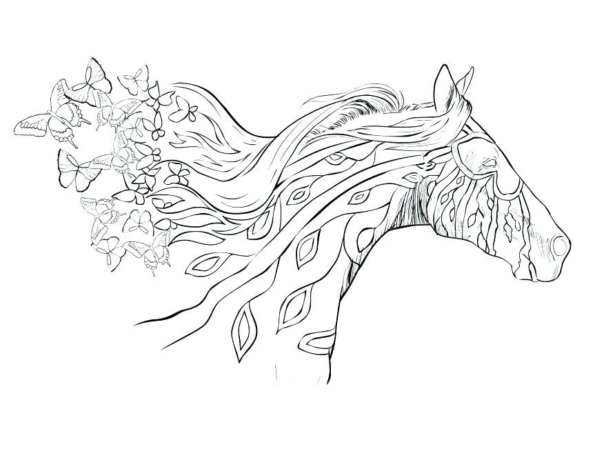 Best ideas about Horse Adult Coloring Books . Save or Pin Horse Coloring Books For Adults Detailed Pages Realistic Now.