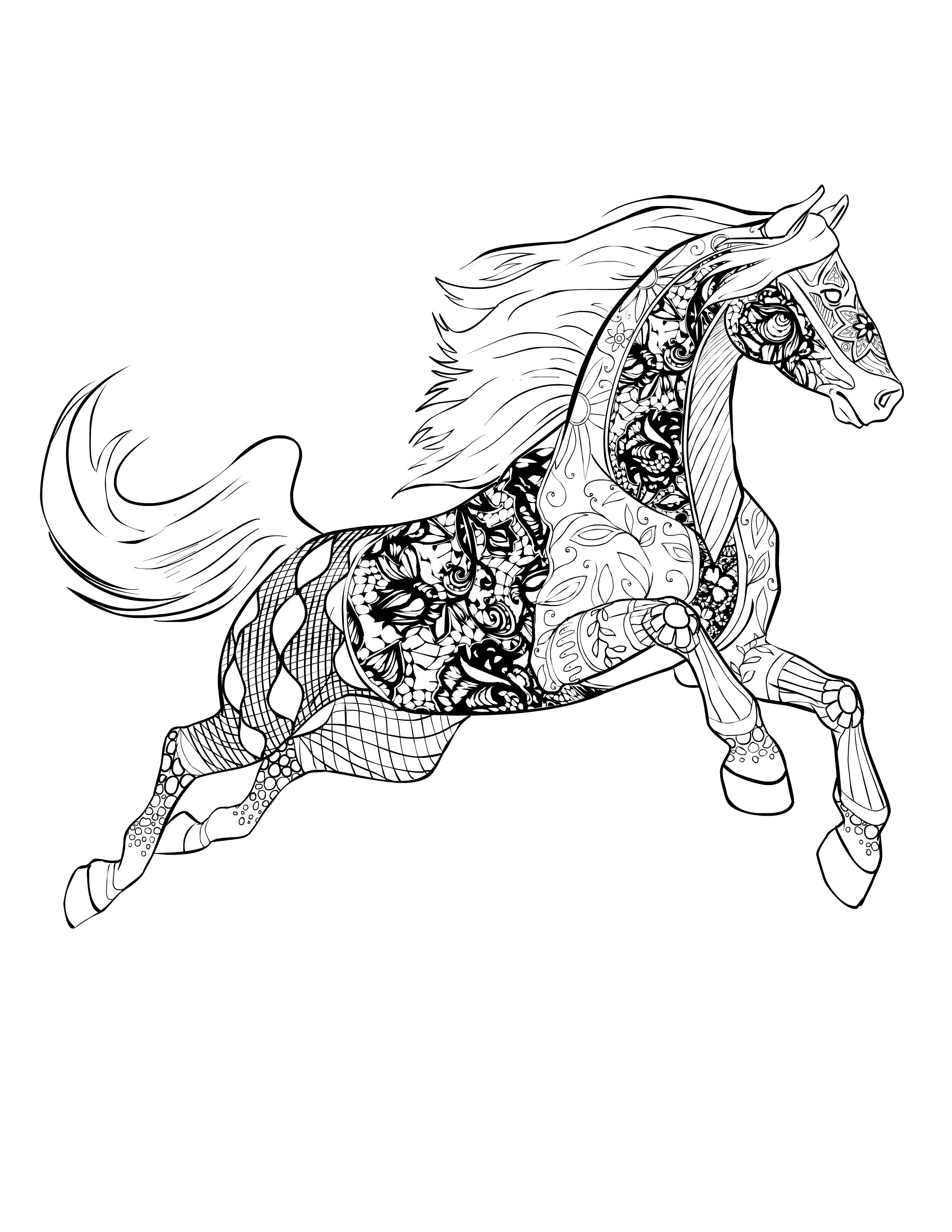 Best ideas about Horse Adult Coloring Books . Save or Pin Horse free Selah Works Now.