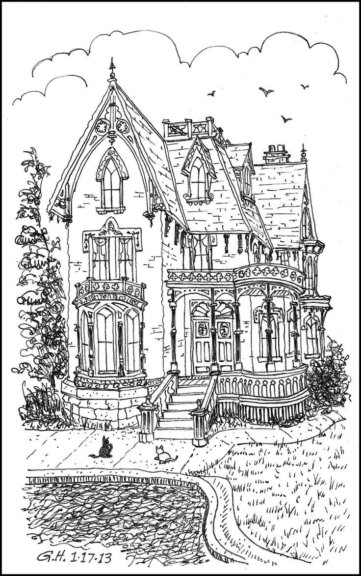 Best ideas about House Coloring Pages For Adults . Save or Pin s Adult Coloring Books Victorian Homes Coloring Now.