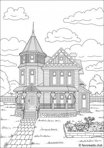 Best ideas about House Coloring Pages For Adults . Save or Pin 1000 images about Adult Colouring Buildings Houses Now.