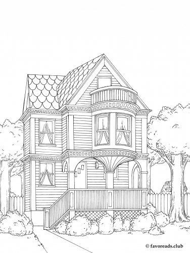 Best ideas about House Coloring Pages For Adults . Save or Pin Adult Coloring Pages Houses Coloring Page for Now.