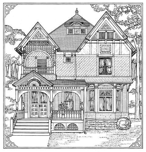 Best ideas about House Coloring Pages For Adults . Save or Pin Victorian Coloring Pages Bestofcoloring Now.