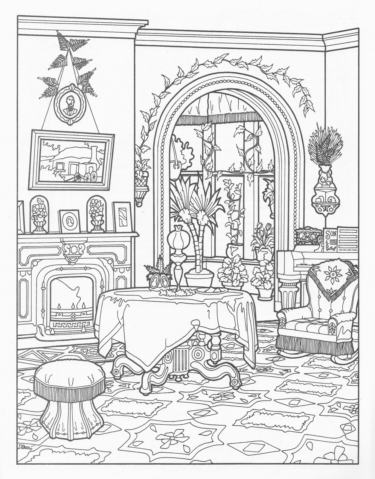 Best ideas about House Coloring Pages For Adults . Save or Pin victorian house coloring pages Now.