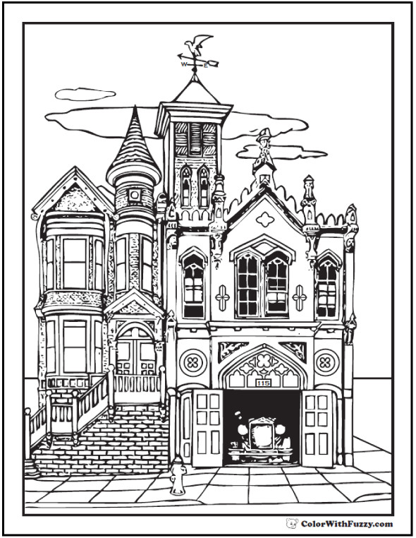 Best ideas about House Coloring Pages For Adults . Save or Pin 42 Adult Coloring Pages Customize Printable PDFs Now.