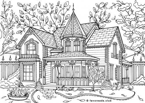 Best ideas about House Coloring Pages For Adults . Save or Pin Free Printable Coloring Pages for Adults Now.