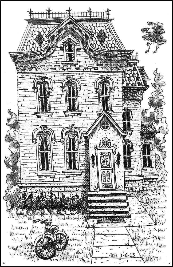 Best ideas about House Coloring Pages For Adults . Save or Pin Buildings Houses Coloring Now.