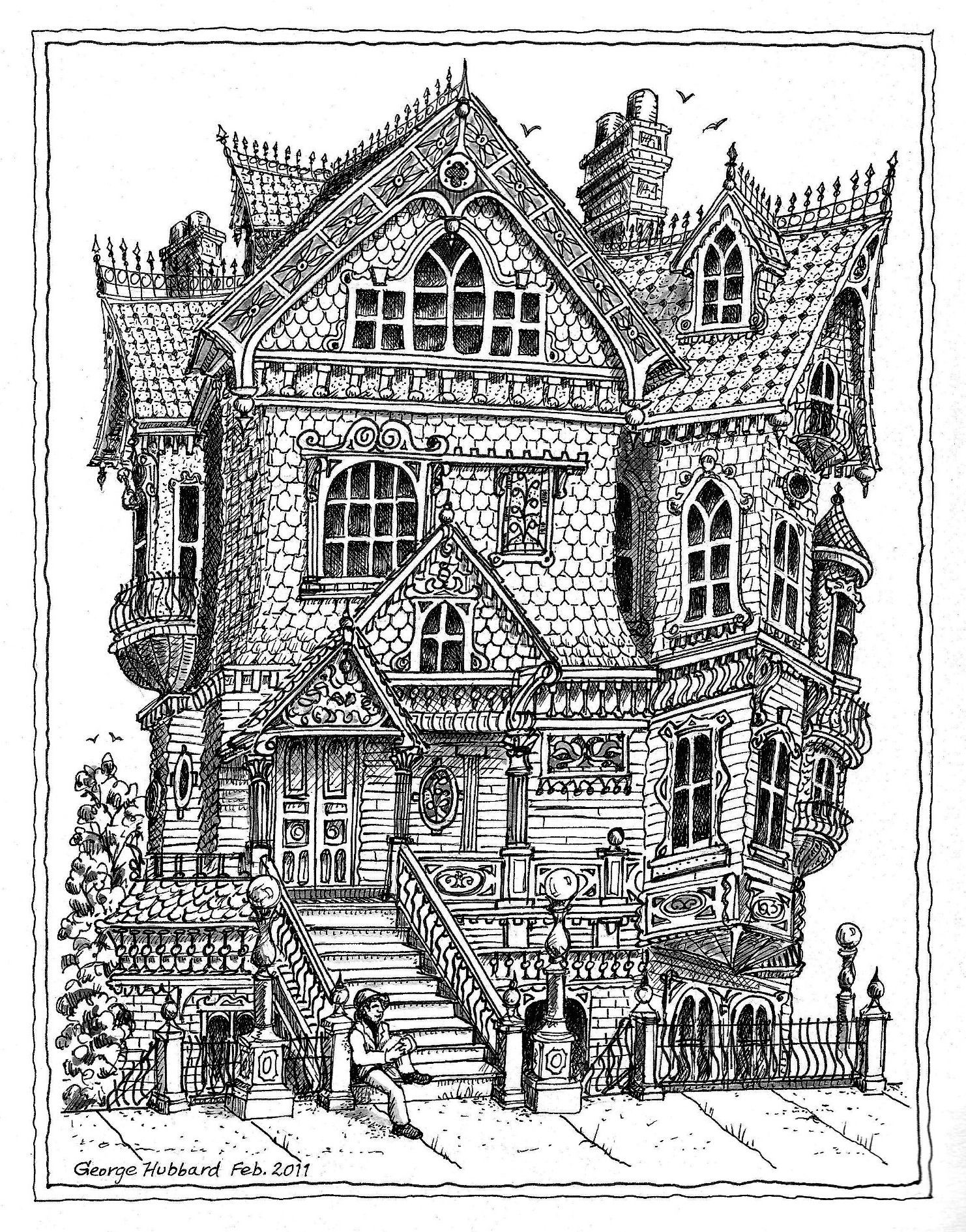 Best ideas about House Coloring Pages For Adults . Save or Pin haunted victorian houses Google Search Now.