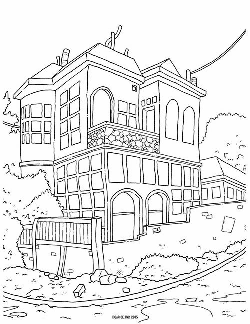 Best ideas about House Coloring Pages For Adults . Save or Pin 9 Free Printable Adult Coloring Pages Now.