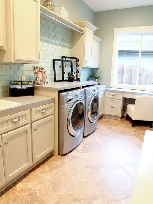 Best ideas about Houzz Laundry Room . Save or Pin Laundry Room Hang Bar Now.