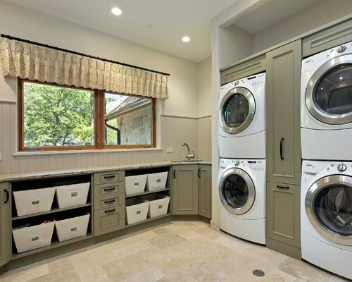 Best ideas about Houzz Laundry Room . Save or Pin Stacked Washer Dryer Home Design Ideas Remodel Now.
