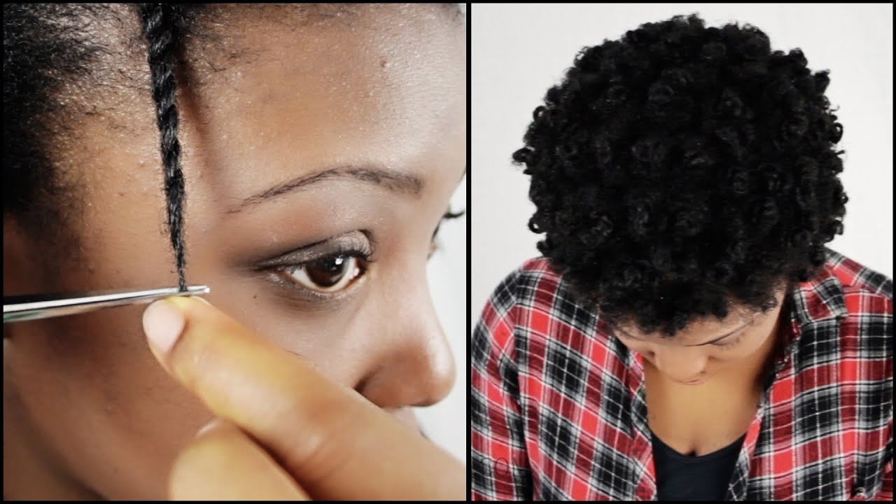 Best ideas about How To Cut Natural Hair . Save or Pin How To Trim Natural Hair Split Ends YOURSELF Now.