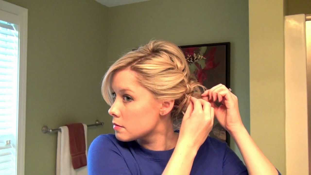 Best ideas about How To Do Hairstyles . Save or Pin How to Do A Full Updo with a Braid Now.