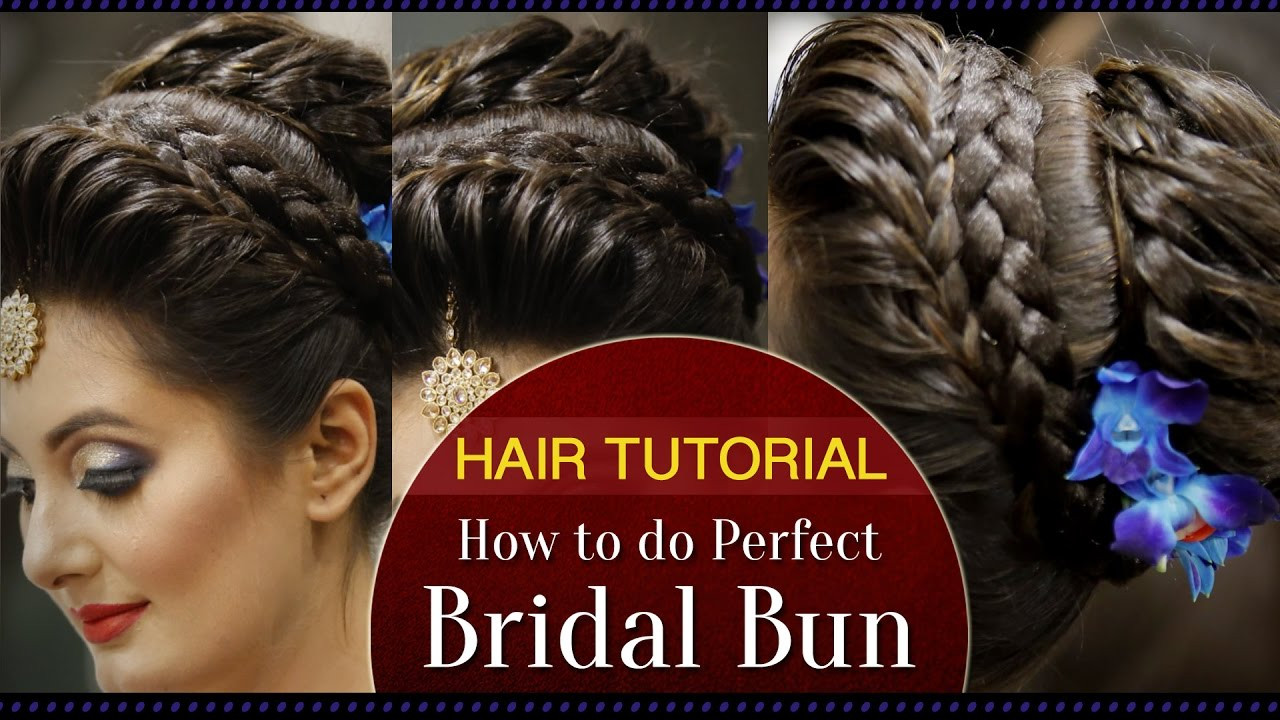 Best ideas about How To Do Hairstyles . Save or Pin How to Do a Perfect Bridal Bun Hair Tutorial Video Now.