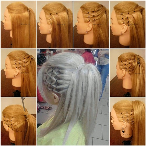 Best ideas about How To Do Hairstyles . Save or Pin Wonderful DIY Stylish High Ponytail with Side Mesh Now.